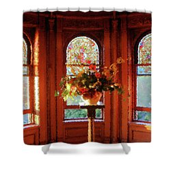 Shower Curtain featuring the photograph Room With A View by Kristin Elmquist