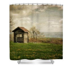 Room With A View Shower Curtain by Lois Bryan