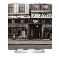Rooney's Restaurant Wilkes Barre Pa 1940s Shower Curtain