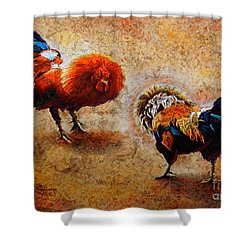Roosters  Scene Shower Curtain