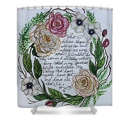 Rooted Shower Curtain by Elizabeth Robinette Tyndall
