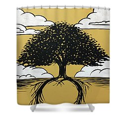 Shower Curtain featuring the painting Rooted In Love by Nathan Rhoads