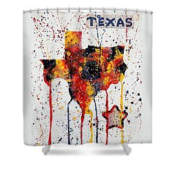 Rooted In Texas Shower Curtain