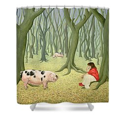Roots Shower Curtain by Ditz