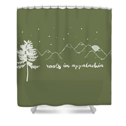 Shower Curtain featuring the digital art Roots In Appalachia by Heather Applegate