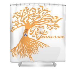 Shower Curtain featuring the photograph Roots In Tn Orange by Heather Applegate