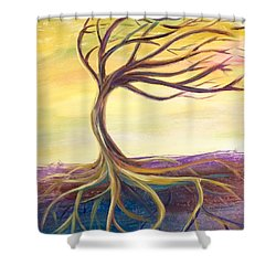 Shower Curtain featuring the painting Roots by Lisa DuBois