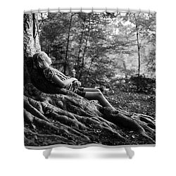 Shower Curtain featuring the photograph Roots Of Contemplation by Ray Tapajna