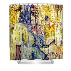 Roots  Shower Curtain by Peggy  Blood