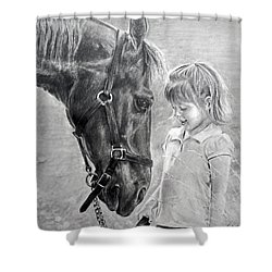 Rooty And Ella Shower Curtain by James Foster