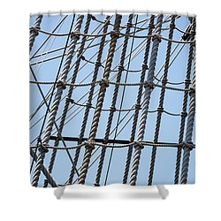 Shower Curtain featuring the photograph Rope Ladder by Dale Kincaid