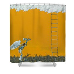 Rope Ladder Shower Curtain by Jasper Oostland