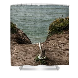 Shower Curtain featuring the photograph Rope Ladder To The Sea by Odd Jeppesen