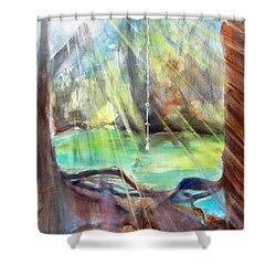 Rope Swing Shower Curtain