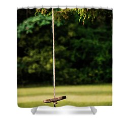 Shower Curtain featuring the photograph Rope Swing  by Shelby Young