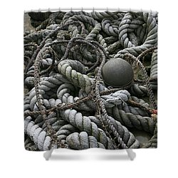 Ropes And Lines Shower Curtain