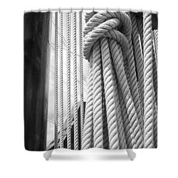 Shower Curtain featuring the photograph Ropes From The Past by Bob Decker