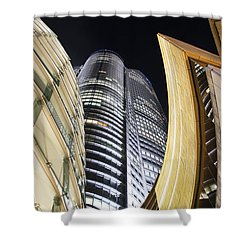 Roppongi Hills Mori Tower Shower Curtain by Bill Brennan - Printscapes
