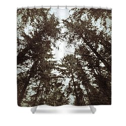 Shower Curtain featuring the photograph Rorschach Trees by Karen Stahlros
