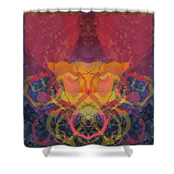 Rorschach1 Shower Curtain by David Klaboe