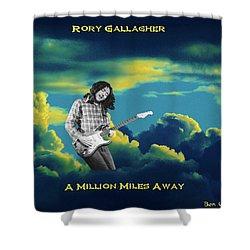 Million Miles Away Shower Curtain