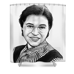 Rosa Parks Shower Curtain by Greg Joens