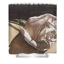 Shower Curtain featuring the painting Rose 1 by Natalia Tejera