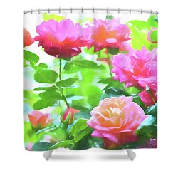 Rose 379 Shower Curtain