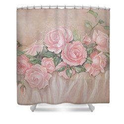 Rose Abundance Painting Shower Curtain