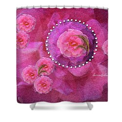 Rose Art A Rose Is Given With Love Shower Curtain