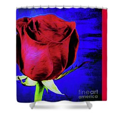 Rose - Beauty And Love  Shower Curtain