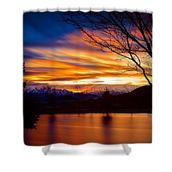 Rose Canyon Dawning Shower Curtain by Paul Marto