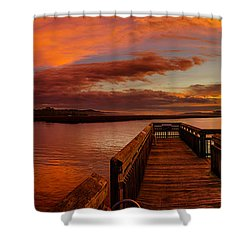 Rose Colored Classes Shower Curtain by David Smith