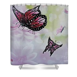 Rose Colored Glasses Shower Curtain by Dianna Lewis
