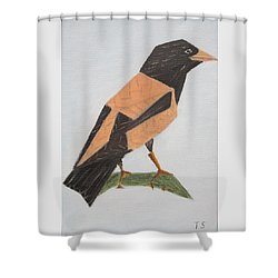 Rose-coloured Starling Shower Curtain