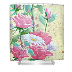 Rose Diptych 1 Shower Curtain