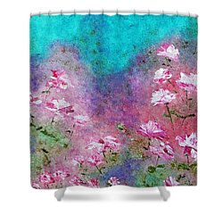 Rose Garden Shower Curtain by Claire Bull