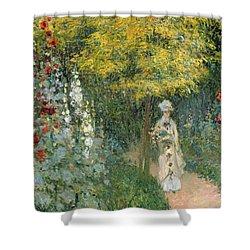 Rose Garden Shower Curtain by Claude Monet