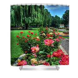 Rose Garden In Bloom Shower Curtain
