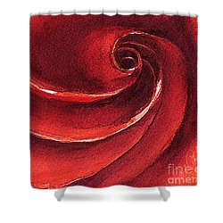 Shower Curtain featuring the painting Rose In Stone by Allison Ashton