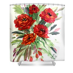 Rose Love Shower Curtain by Dorothy Maier