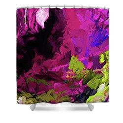 Rose Magenta Shower Curtain