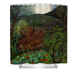 Rose Moon Shower Curtain