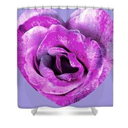 Rose Nepenthe Heart Shower Curtain