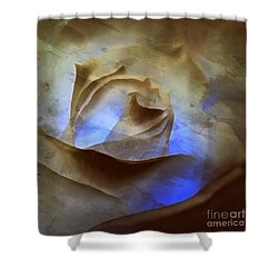 Shower Curtain featuring the photograph Rose - Night Visions  by Janine Riley