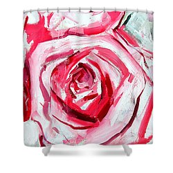 Rose Number 4 Shower Curtain by John Jr Gholson