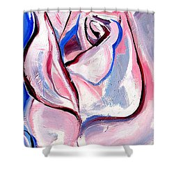 Rose Number 5 Shower Curtain by John Jr Gholson