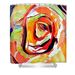 Rose Number 6 Shower Curtain by John Jr Gholson