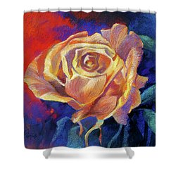 Rose Shower Curtain by Rae Andrews