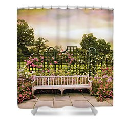 Shower Curtain featuring the photograph Rose Respite by Jessica Jenney